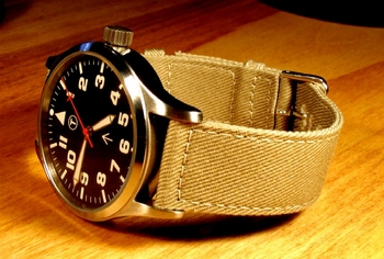 O & W ETA 2801 Military Style watch - manual wind