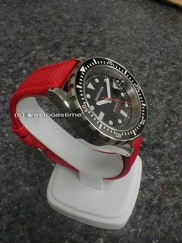 Red Kevlar - you cannot MISS this strap or lose your watch!