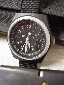 SANDY 490 Military Issue watch NEW Tritium Stocker and Yale