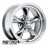 "15x6"" 930-C Retro Wheel Designs Chrome wheels rims 5x4.75"" Chevy lug-pattern 3.50"" backspace"