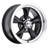 "15x7"" 930-B Retro Wheel Designs Black wheels rims 5x4.50"" Ford lug-pattern 4.00"" backspace"