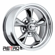 "15x7"" 930-C Retro Wheel Designs Chrome wheels rims 5x4.75"" Chevy lug-pattern 4.00"" backspace"