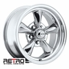"15x7"" 930-P Retro Wheel Designs Polished wheels rims 5x4.50"" Ford lug-pattern 4.00"" backspace"