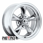 "15x7"" 930-P Retro Wheel Designs Polished wheels rims 5x4.75"" Chevy lug-pattern 4.00"" backspace"