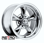 "15x8"" 930-C Retro Wheel Designs Chrome wheels rims 5x4.75"" Chevy lug-pattern 4.50"" backspace"
