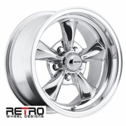 "15x8"" 930-P Retro Wheel Designs Polished wheels rims 5x4.75"" Chevy lug-pattern 4.50"" backspace"