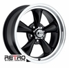 "17x7"" 930-B Retro Wheel Designs Black wheels rims 5x4.50"" Ford lug-pattern 4.00"" backspace"