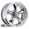 "17x7"" 930-C Retro Wheel Designs Chrome wheels rims 5x4.50"" Ford lug-pattern 4.00"" backspace"