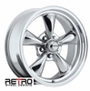 "17x7"" 930-P Retro Wheel Designs Polished Aluminum wheels rims 5x4.75"" Chevy lug-pattern 4.00"" backspace"