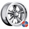 "17x7"" US Mags U104 Standard Chrome wheels rims 5x4.75"" lug-pattern 4.00"" backspace"