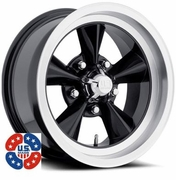 "17x7"" US Mags U106 Black wheels rims 5x4.75"" GM lug-pattern 4.00"" backspace"