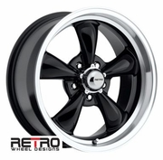 "17x8"" 930-B Retro Wheel Designs Black wheels rims 5x4.75"" Chevy lug-pattern 4.50"" backspace"