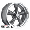 "17x8"" 930-G Retro Wheel Designs Charcoal Gray wheels rims 5x4.75"" Chevy lug-pattern 4.50"" backspace"