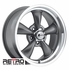 "17x8"" 930-G Retro Wheel Designs Gray wheels rims 5x4.50"" Ford lug-pattern 4.50"" backspace"