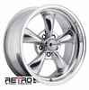 "17x8"" 930-P Retro Wheel Designs Polished Aluminum wheels rims 5x4.50"" Ford lug-pattern 4.50"" backspace"