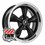 "17x8"" Bullitt Replica Black Wheels Rims 5x4.50"" for Ford Mustang 1965-1973"