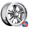 "17x8"" US Mags U104 Standard Chrome wheels rims 5x4.75"" lug-pattern 4.50"" backspace"