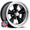 "17x8"" US Mags U106 Black wheels rims 5x4.75"" GM lug-pattern 4.50"" backspace"
