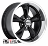 "17x9"" 930-B Retro Wheel Designs Black wheels rims 5x4.50"" Ford lug-pattern 5.50"" backspace"
