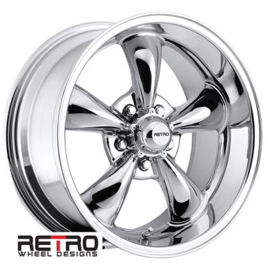 "17x9"" 930-C Retro Wheel Designs Chrome wheels rims 5x4.50 ..."