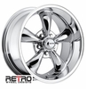 "17x9"" 930-C Retro Wheel Designs Chrome wheels rims 5x4.75"" Chevy lug-pattern 5.00"" backspace"