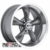 "17x9"" 930-G Retro Wheel Designs Charcoal Gray wheels rims 5x4.50"" Ford lug-pattern 5.50"" backspace"