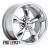 "17x9"" 930-P Retro Wheel Designs Polished wheels rims 5x4.50"" Ford lug-pattern 5.50"" backspace"