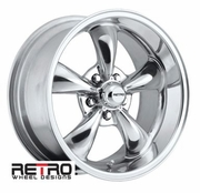 "17x9"" 930-P Retro Wheel Designs Polished wheels rims 5x4.75"" Chevy lug-pattern 5.00"" backspace"