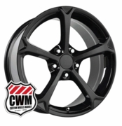 "18x9.5"" 2010 Corvette Grand Sport Replica Black Wheels Rims for C4 1984-1987"