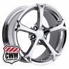 "18x9.5"" 2010 Corvette Grand Sport Replica Chrome Wheels Rims for C4 1984-1987"