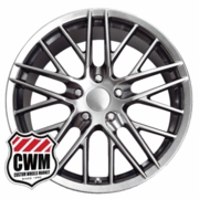 "18x9.5"" Hyper Silver Corvette ZR1 Replica Wheels Rims for Corvette C4 1984-1987"