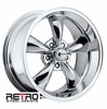 "18x9"" 930-C Retro Wheel Designs Chrome wheels rims 5x4.75"" Chevy lug-pattern 5.00"" backspace"