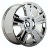 "20x8.5"" Chevy Silverado 1500 2009-2010 Style OE 5416 Replica Chrome Wheel Rim"