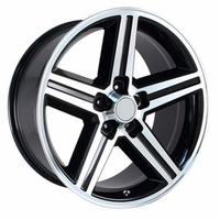 "20x8"" Black Chevy Iroc Z Replica Wheels Rims 5x4.75"" for Camaro 1967-1992"