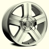 "22x9"" Chevy Silverado 1500 2007 Style OE 5291 Replica Silver Machined Wheel Rim"