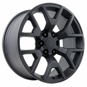 "22x9"" GMC Sierra 2014 Style OE 5656 Replica Matte Black Wheel Rim"