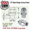 ET Style Bulge Conical Lug nuts