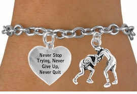 "<BR>                    "" WRESTLERS "" TOGGLE CHARM BRACELET WHOLESALE <bR>                 W21482B - THE NEW WAY TO EXPRESS LOVE, MOTIVATION,<BR>          POSITIVE, AFFIRMATIVE EXPRESSIONS, THAT WILL GO PERFECTLY<br>        WITH ANOTHER POSITIVE AFFIRMATION CHARM IF YOU WANT  ONE,<BR>   MORE CHOICES LOOK BELOW,  CHARM BRACELET FROM $9.73 TO $14.58<BR>                                    CostumeJewelryWholesale.com �2014"