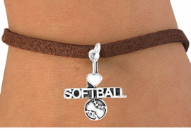 "<bR>         AN ALLAN ROBIN DESIGN<bR>              EXCLUSIVELY OURS!!<BR>CLICK HERE TO SEE 120+ EXCITING<BR>  CHANGES THAT YOU CAN MAKE!<BR>             LEAD & NICKEL FREE!!<BR>    W603SB - ""I LOVE SOFTBALL""<Br>     & BRACELET AS LOW AS $4.50"