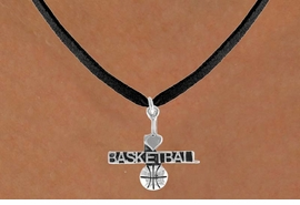 "<bR>         AN ALLAN ROBIN DESIGN<bR>              EXCLUSIVELY OURS!!<BR>CLICK HERE TO SEE 120+ EXCITING<BR>  CHANGES THAT YOU CAN MAKE!<BR>             LEAD & NICKEL FREE!!<BR>  W604SN - ""I LOVE BASKETBALL""<BR>     & NECKLACE AS LOW AS $4.50"