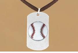 "<bR>              AN ALLAN ROBIN DESIGN<bR>                  EXCLUSIVELY OURS!!<BR>     CLICK HERE TO SEE 65+ EXCITING<BR>      CHANGES THAT YOU CAN MAKE!<BR>                 LEAD & NICKEL FREE!!<BR>W693SN - DOUBLE-SIDED BASEBALL<Br>""NEVER GIVE UP"" DOG TAG NECKLACE<BR>                FROM $5.57 TO $10.50<BR>                                 ©2010<br>"