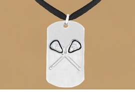 "<bR>              AN ALLAN ROBIN DESIGN<bR>                    EXCLUSIVELY OURS!!<BR>      CLICK HERE TO SEE 65+ EXCITING<BR>       CHANGES THAT YOU CAN MAKE!<BR>                   LEAD & NICKEL FREE!!<BR>W694SN - DOUBLE-SIDED LACROSSE<Br> ""NEVER GIVE UP"" DOG TAG NECKLACE<BR>                 FROM $6.25 TO $10.50<BR>                                 ©2010<br> <ul>ITEM TEMPORARILY OUT OF STOCK!!!</ul>"
