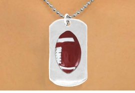 "<bR>              AN ALLAN ROBIN DESIGN<bR>                  EXCLUSIVELY OURS!!<BR>     CLICK HERE TO SEE 65+ EXCITING<BR>      CHANGES THAT YOU CAN MAKE!<BR>                 LEAD & NICKEL FREE!!<BR>W696SN - DOUBLE-SIDED FOOTBALL<Br>""NEVER GIVE UP"" DOG TAG NECKLACE<BR>                FROM $6.25 TO $10.50<BR>                                 ©2010  <br> <ul>ITEM TEMPORARILY OUT OF STOCK!!!</ul>"