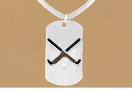 "<bR>                 AN ALLAN ROBIN DESIGN<bR>                      EXCLUSIVELY OURS!!<BR>        CLICK HERE TO SEE 65+ EXCITING<BR>         CHANGES THAT YOU CAN MAKE!<BR>                     LEAD & NICKEL FREE!!<BR>W697SN - DOUBLE-SIDED FIELD HOCKEY<Br>    ""NEVER GIVE UP"" DOG TAG NECKLACE<BR>                    FROM $6.25 TO $10.50<BR>                                     ©2010<br> <ul>ITEM TEMPORARILY OUT OF STOCK!!!</ul>"