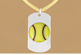 "<bR>              AN ALLAN ROBIN DESIGN<bR>                  EXCLUSIVELY OURS!!<BR>     CLICK HERE TO SEE 65+ EXCITING<BR>      CHANGES THAT YOU CAN MAKE!<BR>                 LEAD & NICKEL FREE!!<BR>W698SN - DOUBLE-SIDED SOFTBALL<Br>""NEVER GIVE UP"" DOG TAG NECKLACE<BR>                FROM $6.25 TO $10.50<BR>                                ©2010"