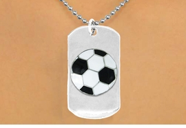 "<bR>              AN ALLAN ROBIN DESIGN<bR>                  EXCLUSIVELY OURS!!<BR>     CLICK HERE TO SEE 65+ EXCITING<BR>      CHANGES THAT YOU CAN MAKE!<BR>                 LEAD & NICKEL FREE!!<BR>   W699SN - DOUBLE-SIDED SOCCER<Br>""NEVER GIVE UP"" DOG TAG NECKLACE<BR>                FROM $6.25 TO $10.50<BR>                                 ©2010<br> <ul>ITEM TEMPORARILY OUT OF STOCK!!!</ul>"