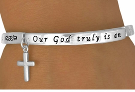 "<BR>             AN ALLAN  ROBIN DESIGN<BR>                   EXCLUSIVELY OURS<BR>                LEAD & NICKEL FREE!!<BR>    W13339B - ""AN AWESOME GOD""<br>STRETCH BRACELET YOUR LOW PRICE $5.85"