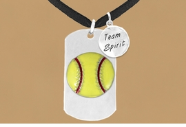 "<bR>             AN ALLAN ROBIN DESIGN<bR>                  EXCLUSIVELY OURS!!<BR>                 LEAD & NICKEL FREE!!<BR>W16280N - DOUBLE-SIDED SOFTBALL<Br>   ""NEVER GIVE UP"" DOG TAG & ""TEAM<Br>       SPIRIT"" CHARM NECKLACE FROM<bR>                 $7.50 TO $11.75 ©2010"