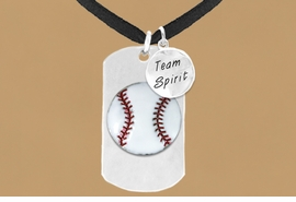 "<bR>              AN ALLAN ROBIN DESIGN<bR>                   EXCLUSIVELY OURS!!<BR>                  LEAD & NICKEL FREE!!<BR>W16283N - DOUBLE-SIDED BASEBALL<Br>   ""NEVER GIVE UP"" DOG TAG & ""TEAM<Br>       SPIRIT"" CHARM NECKLACE FROM<bR>                 $7.50 TO $11.75 ©2010"