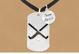 "<bR>                  AN ALLAN ROBIN DESIGN<bR>                      EXCLUSIVELY OURS!!<BR>                     LEAD & NICKEL FREE!!<BR>W16295N - DOUBLE-SIDED FIELD HOCKEY<Br>      ""NEVER GIVE UP"" DOG TAG & ""TEAM<Br>          SPIRIT"" CHARM NECKLACE FROM<bR>                     $7.50 TO $11.75 ©2010"